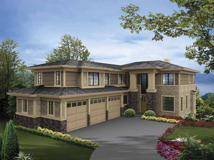 Paradise bluffs at grand lake for 2 story 3 car garage house plans